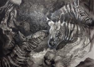 zebras are pretty horses.